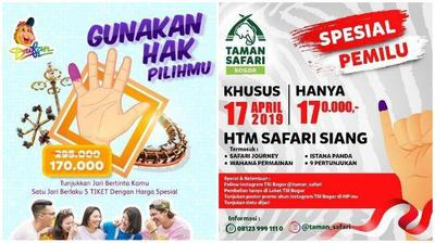 Promo Spesial Pemilu 2019 Ada Potongan Harga Tiket Masuk Dufan Dan